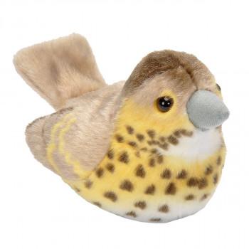 Plyšový pták se zvuky Drozd zpěvný