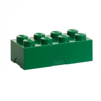 LEGO box na svačinu 100 x 200 x 75 mm - tmavě zelená