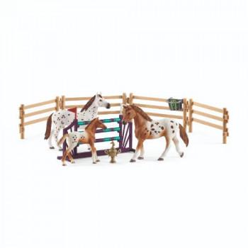 Schleich Set appalosští  koně a tréninkové příslušenstí
