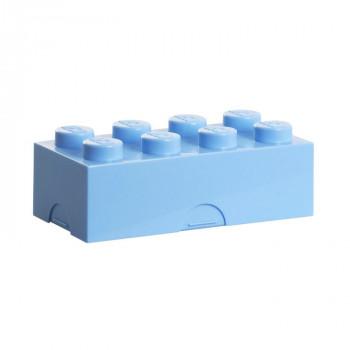 LEGO box na svačinu 100 x 200 x 75 mm - světle modrá