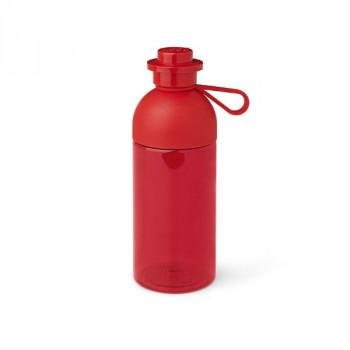 LEGO láhev na pití 0,5L - transparentní, červená