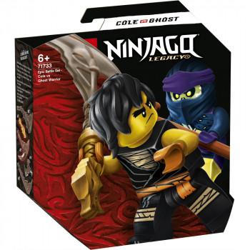 LEGO Ninjago 71733 Epický souboj – Cole vs. přízračný válečn