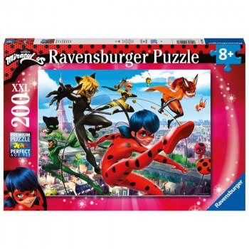 Ravensburger Puzzle 129980 Miraculous: Kouzelná Beruška a Če
