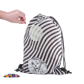 Pixie Crew Drawstring bag černobílý