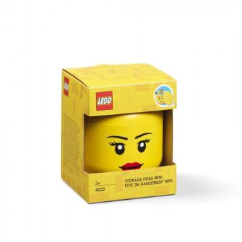 LEGO úložná hlava (mini) - dívka