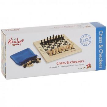 Hamleys cestovní šachy a dáma
