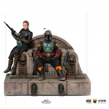 Boba Fett and Fennec Shand on Throne Deluxe Art Scale 1/10 -