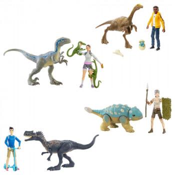 Mattel Jurassic World Člověk a dinosaurus