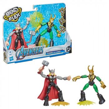 Avengers Bend and Flex vs. Loki
