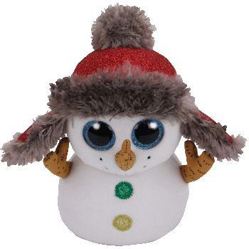 TY Beanie Boos BUTTONS plyšový sněhulák 24 cm