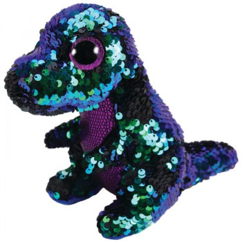 TY Beanie Boos Flippables CRUNCH flitrový dinosaurus 15 cm