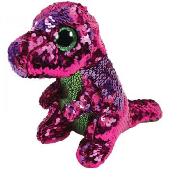 TY Beanie Boos Flippables STOMPY flitrový dinosaur 15 cm