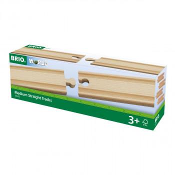 Brio Střední koleje rovné, 144 mm, 4 ks