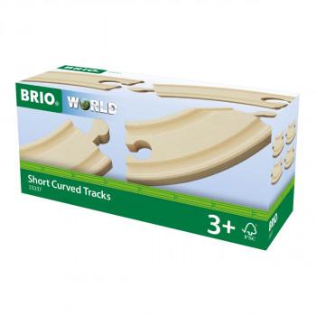 Brio Krátké zatáčky, 90 mm, 4 ks