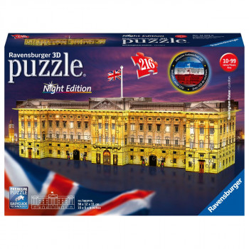 Ravensburger 3D puzzle Buckinghamský palác Noční edice 216 d