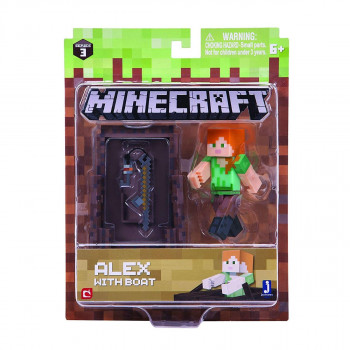 Minecraft Alex s lodí