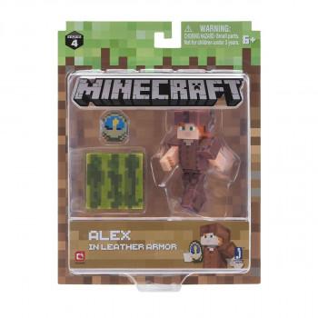 Minecraft Alex v kožené zbroji