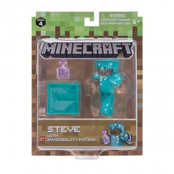 Minecraft Steve s lektvarem neviditelnosti
