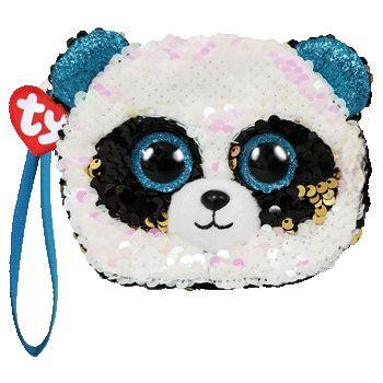 TY Fashion Sequins flitrová taška na zápěstí BAMBOO - panda