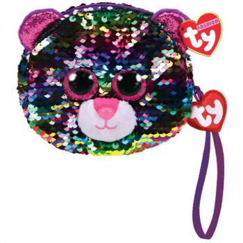 TY Fashion Sequins flitrová taška na zápěstí DOTTY - leopard