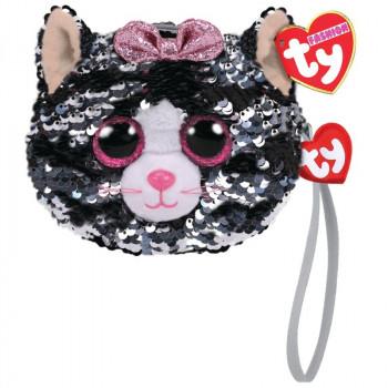 TY Fashion Sequins flitrová taška na zápěstí KIKI - kočka 10