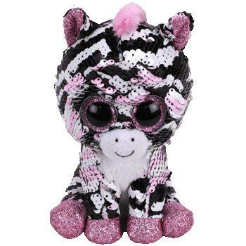 TY Beanie Boos Flippables ZOEY flitrová zebra 15 cm