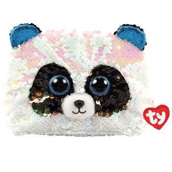 TY Fashion Sequins flitrová taška BAMBOO - panda 16 cm