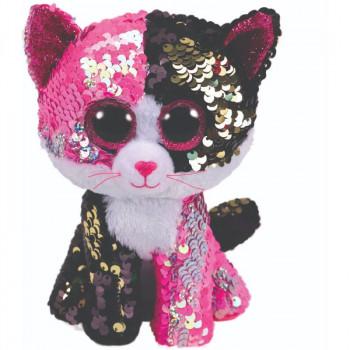 TY Beanie Boos Flippables MALIBU flitrová kočka 24 cm