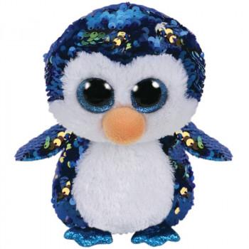 TY Beanie Boos Flippables PAYTON flitrový tučňák 24 cm