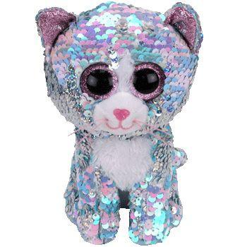 TY Beanie Boos Flippables WHIMSY flitrová kočka 42 cm