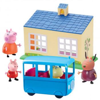 Prasátko Peppa škola a školní autobus hrací set