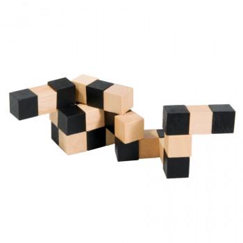 Dřevěný hlavolam, natural/černý