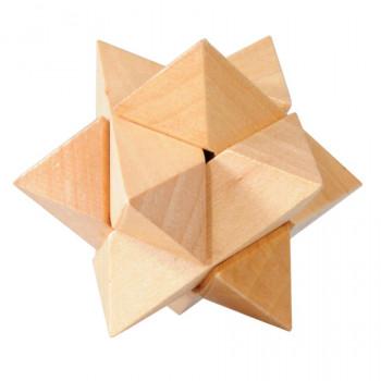 Dřevěný hlavolam Star