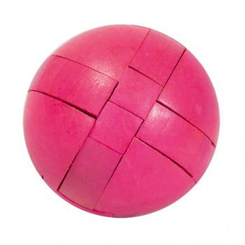 Dřevěný hlavolam Ball, fialový
