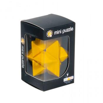 Dřevěný hlavolam Star, žlutý