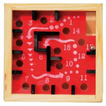 Dřevěná hra - labyrint, 9 cm, vícebarevná