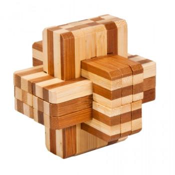 IQ-Test bambusový hlavolam Block-Cross