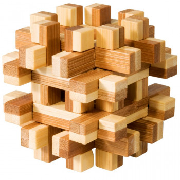 IQ-Test bambusový hlavolam Magic blocks