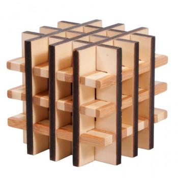 IQ-Test bambusový hlavolam Multi Square