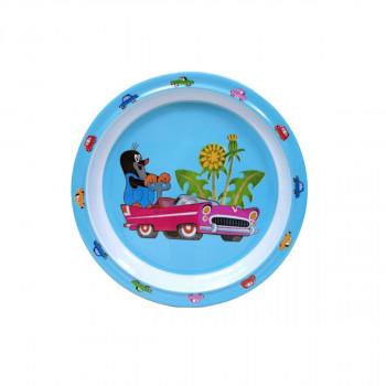 Melaminový talíř Krtek a autíčko 21 cm