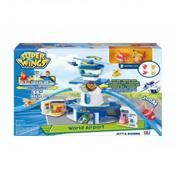 Super Wings Hrací set Velká kontrolní věž Jett a Donnie