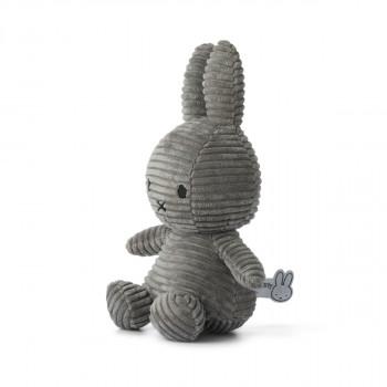 Miffy Corduroy tmavě šedý - 24 cm plyšák