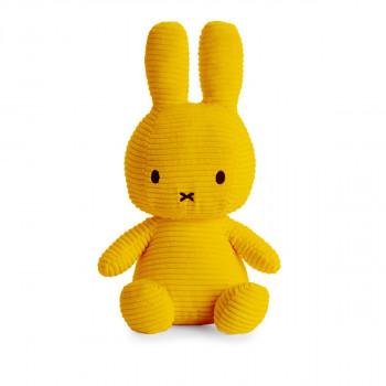 Miffy Sitting Corduroy žlutý - 33 cm plyšák