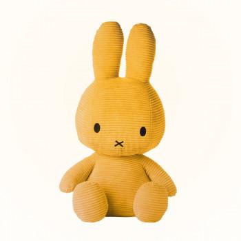 Miffy Sitting Corduroy žlutý - 50 cm plyšák