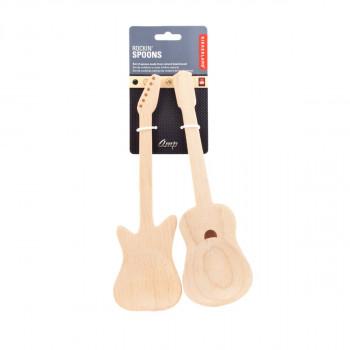 Kikkerland dřevěné lžíce - kytary