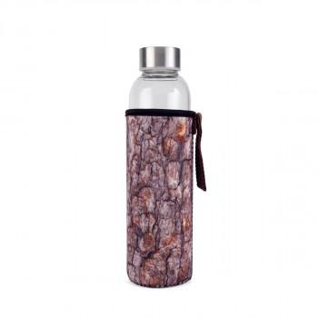 Kikkerland skleněná lahev s obalem (polínko)