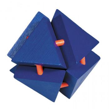 IQ-Test bambusový hlavolam Magic Trianglebox