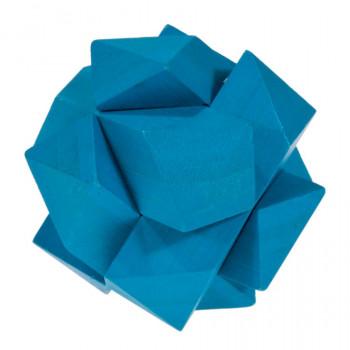 IQ-Test bambusový hlavolam Angular knot, modrý