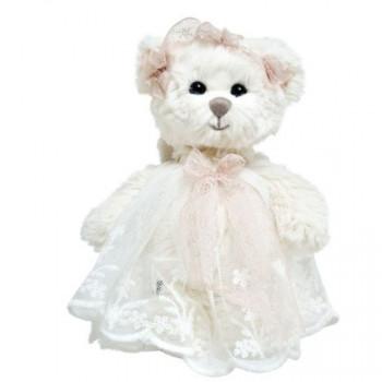 Bukowski BABY HAILEY ANGEL medvídek krajkové šaty bílá stuha