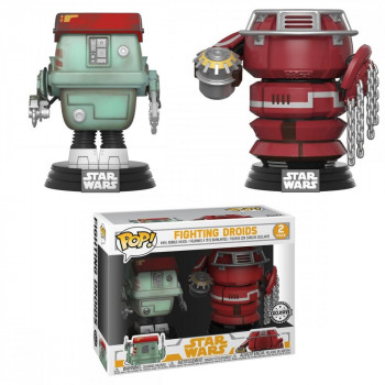Funko POP Star Wars Bobble 2-Pack: Solo - Fight Droids (Exc)